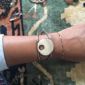🌚 Sterling Native American Mexican cuff bracelet